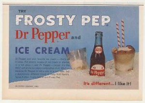 Vintage Dr Pepper ad from the 1960s, via Vintage Ad Browser