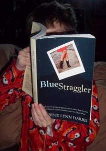 Galley Proof of Blue Straggler, a novel by Kathy Lynn Harris