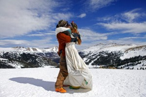 Skiing Couples Wed Atop Colorado's Loveland Ski Area