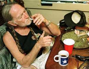A rare moment on Willie's bus (not). I love the Internet.